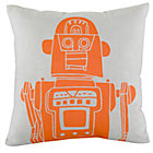 Grey Robot Pillow