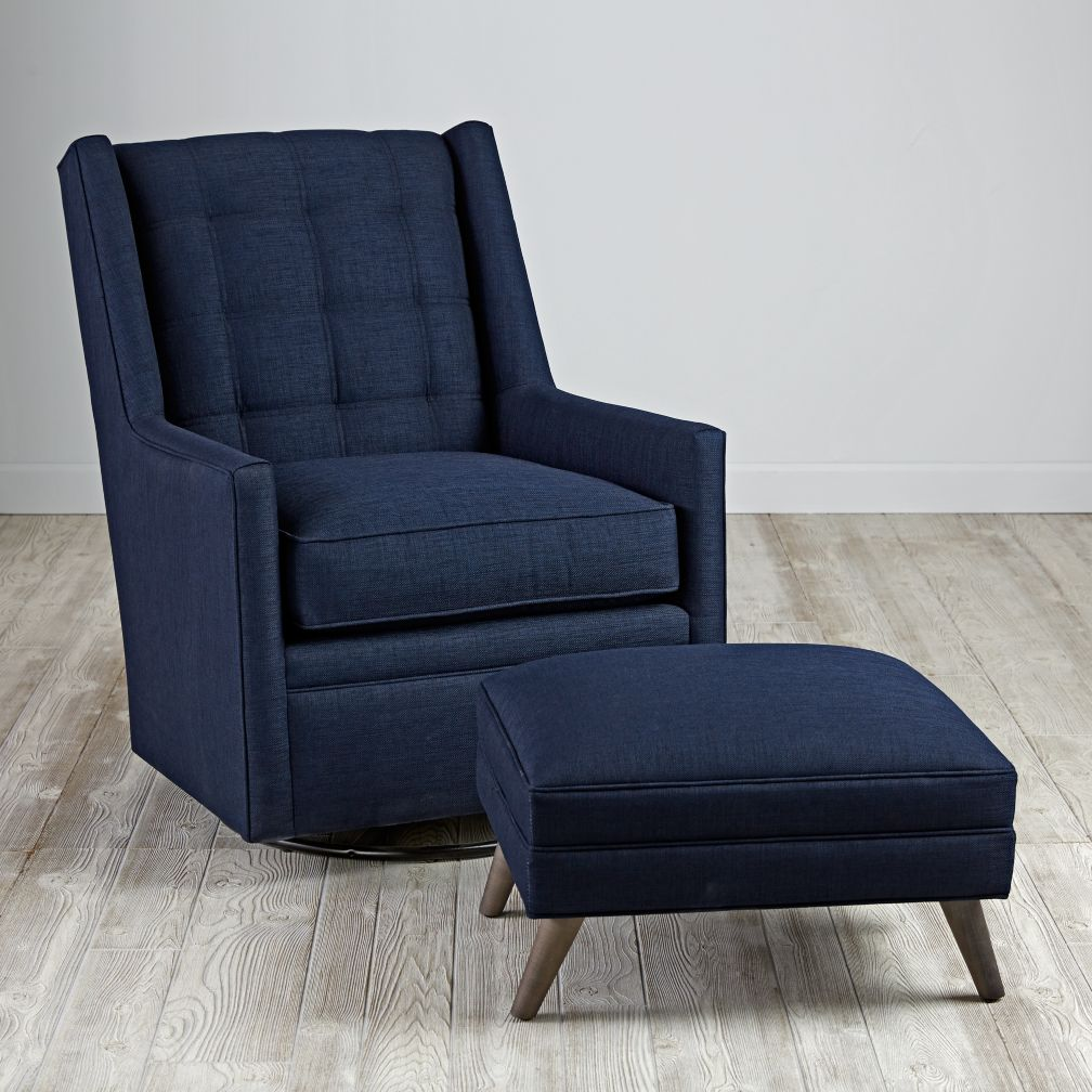 Cosgrove Swivel Glider & Ottoman (Dooley Blueberry)