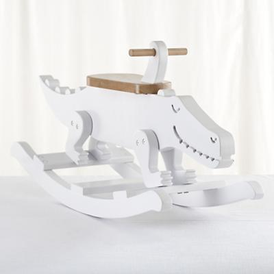 Crocodile Rocks Wooden Rocker