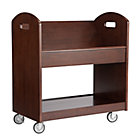 Espresso Rolling Book Cart