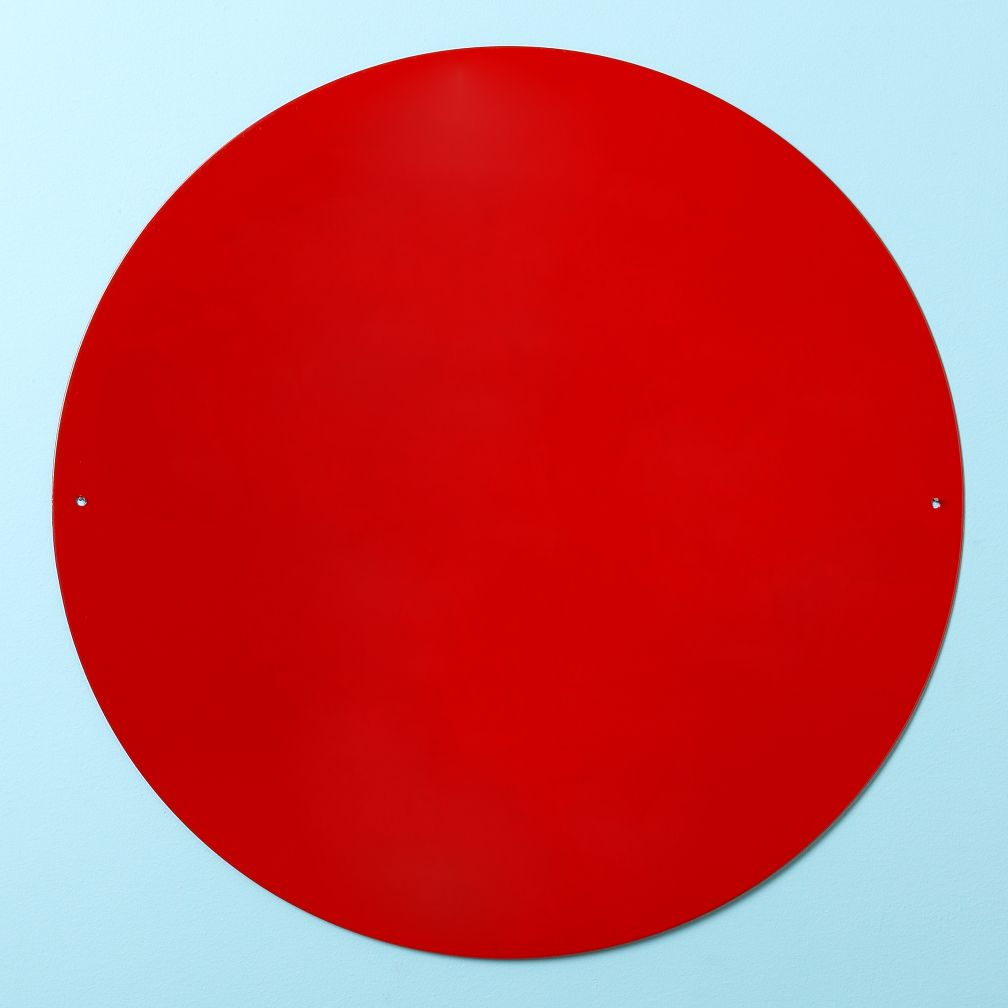 "16"" Perfect Circle Magnet Board (Red)"