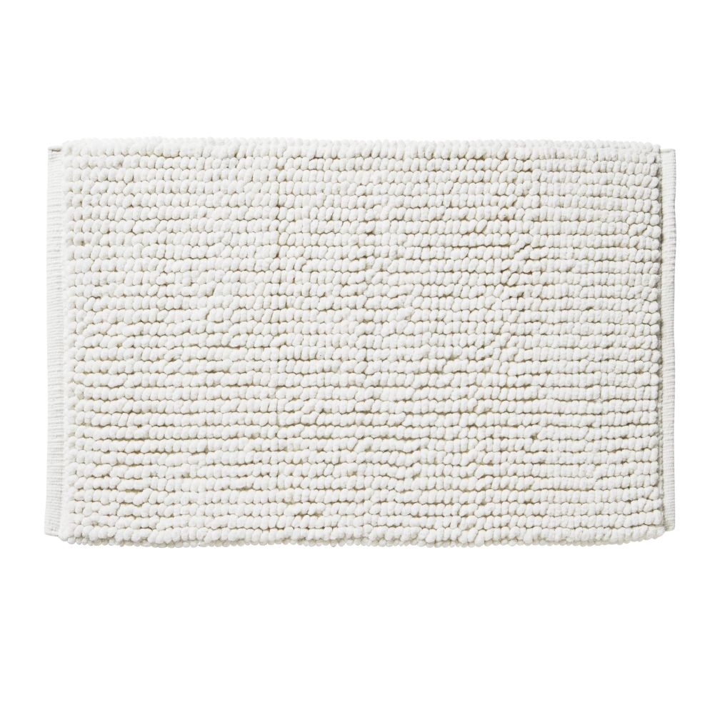 Rub-A-Dub Chenille Nub Bath Mat (White)