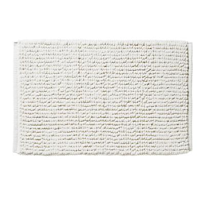 Rub-A-Dub Chenille Nub Bath Mat (White)