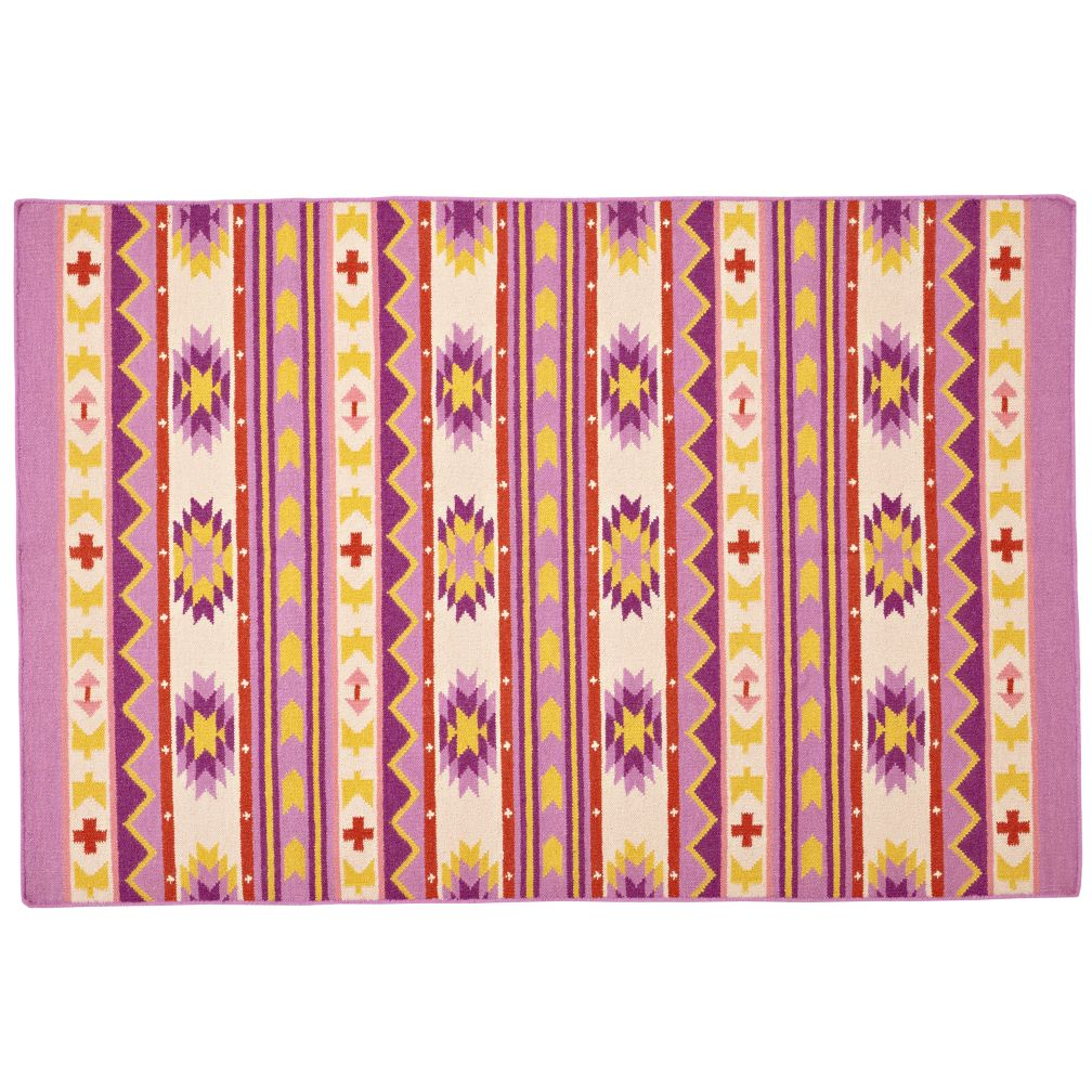 5 x 8' Aztec Support Rug (Purple)