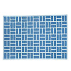 4 x 6&amp;#39; Blue Brick Dhurrie Rug