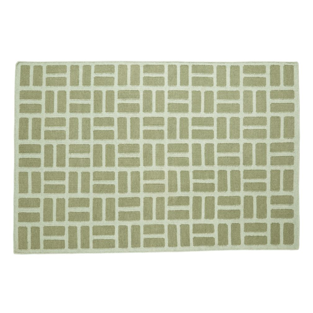 5 x 8' Brick by Brick Rug (Green)