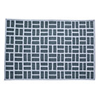 4 x 6&amp;#39; Grey Brick Dhurrie Rug
