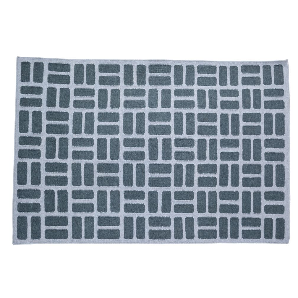 5 x 8' Grey Brick by Brick Rug (Grey)
