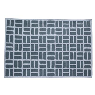 4 x 6' Brick by Brick Rug (Grey)