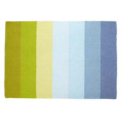 8 x 10' Broad Stripe Rug (Blue-Green)