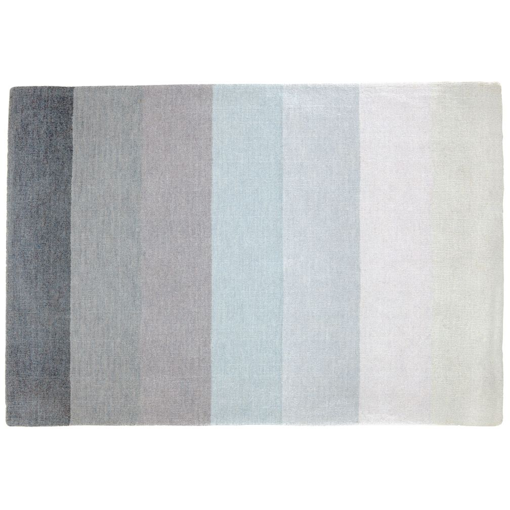 4 x 6' Broad Stripe Rug (Grey-White)