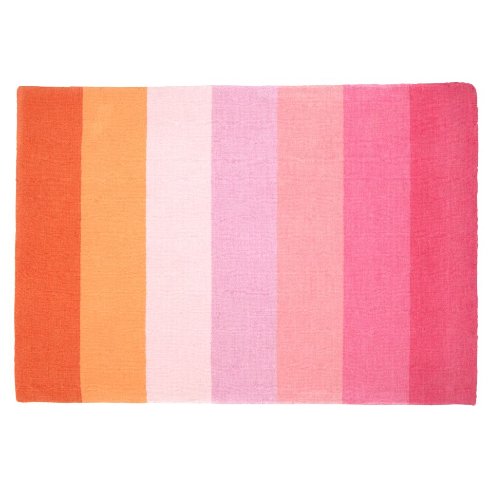 8 x 10' Broad Stripe Rug (Pink-Orange)