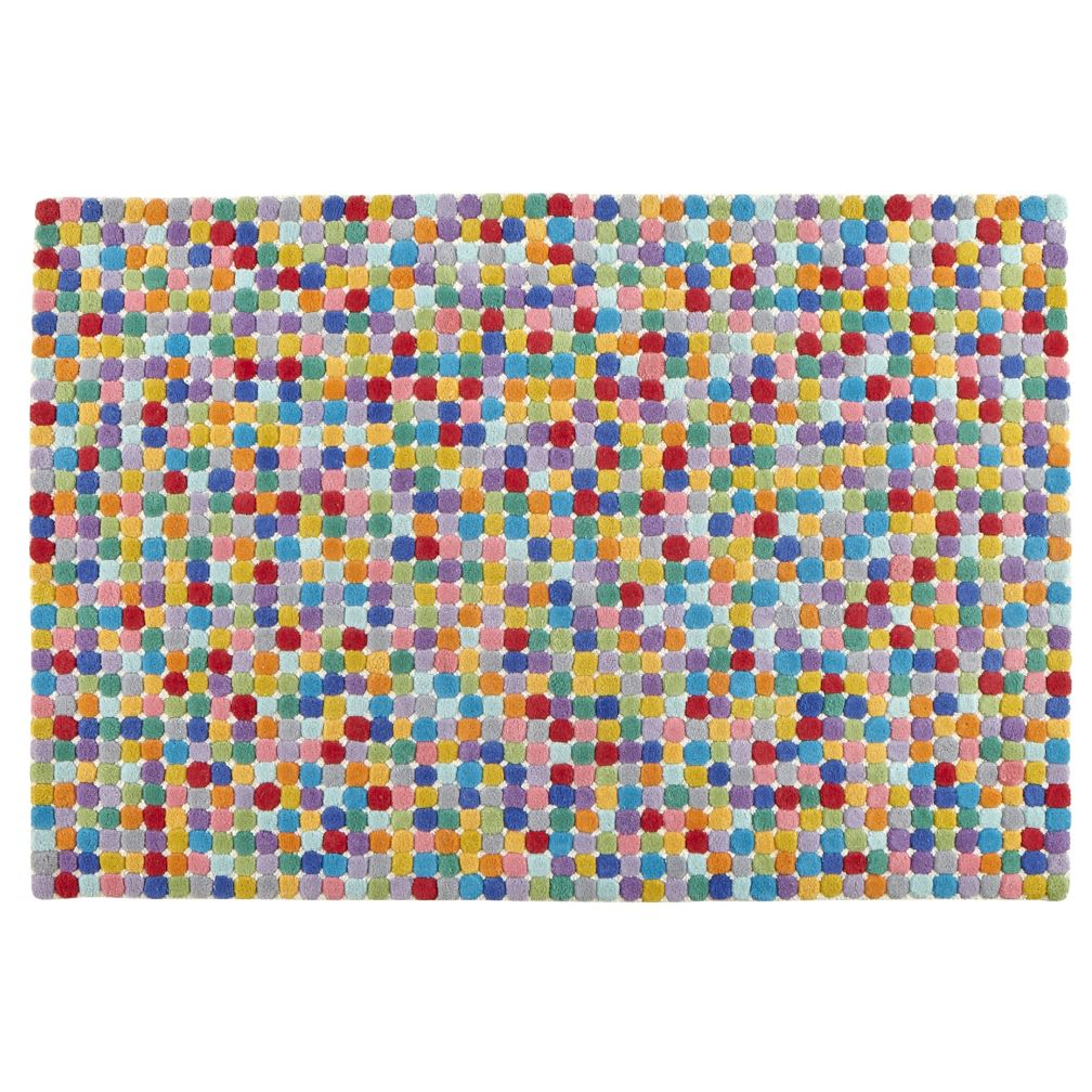 5 x 8' Jellybean Multi Dot Rug