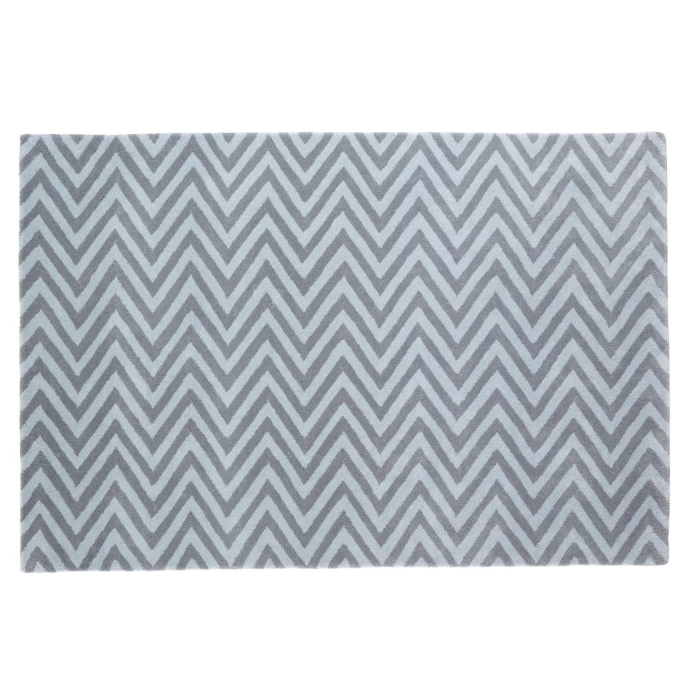 4 x 6&#39;  Zig Zag Rug (Grey)