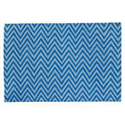 4 x 6&amp;#39; Blue Zig Zag Rug