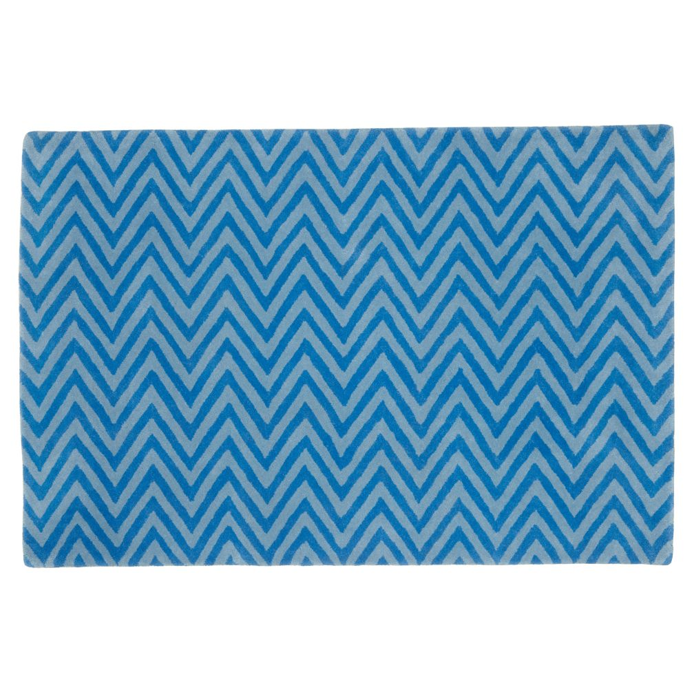 4 x 6&#39;  Zig Zag Rug (Blue)