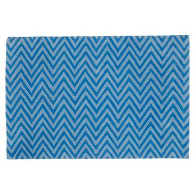 5 x 8' Zig Zag Rug (Blue)