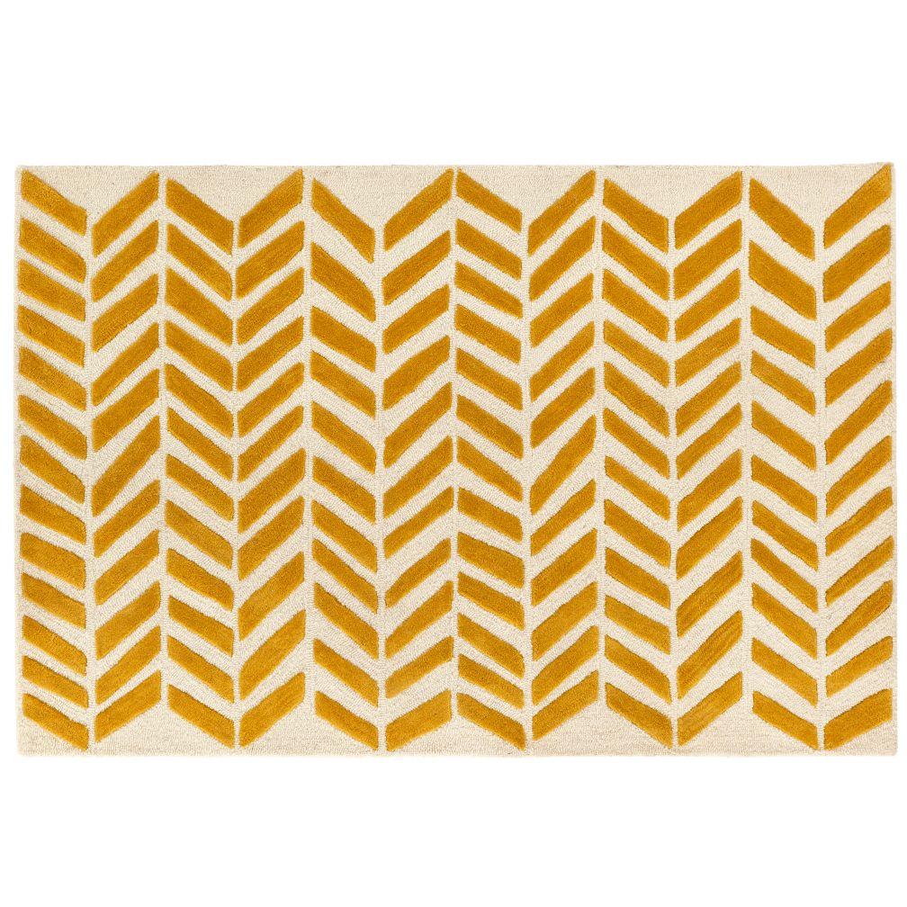 5 x 8' Yellow Gold Bars Rug