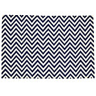 4 x 6&amp;#39; Dk. Blue Chevron Rug