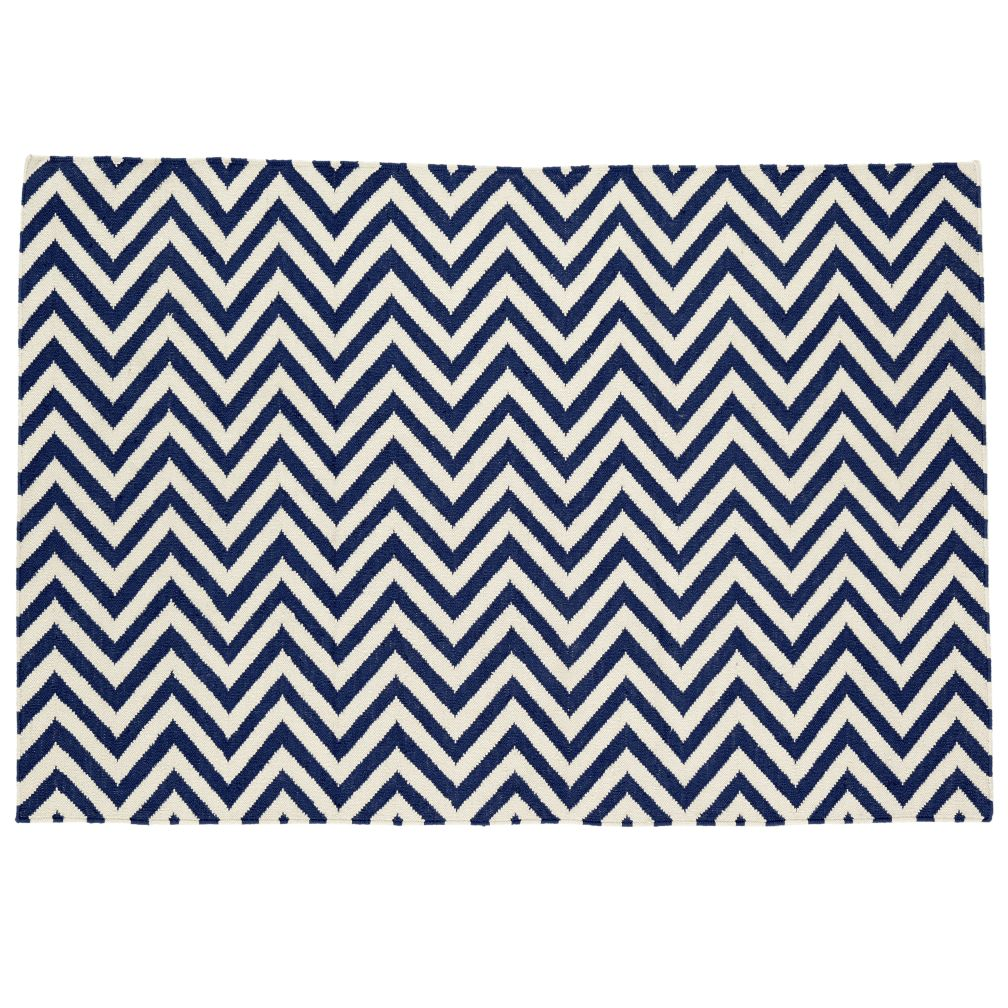 4 x 6&#39; Chevron Rug (Dk. Blue)