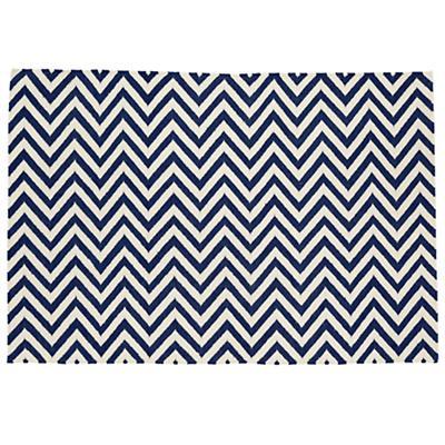 8 x 10'  Chevron Rug (Dk. Blue)