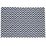 Chevron and On Rug (Dk. Blue)