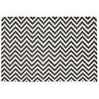 4 x 6' Grey Chevron Rug