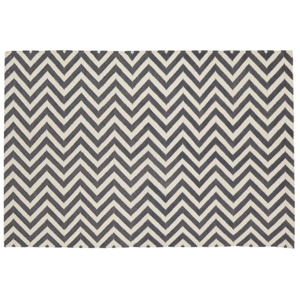 5 x 8&#39; Chevron Rug (Grey)