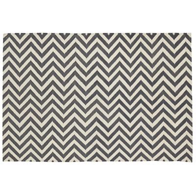 Chevron and On Rug (Grey)
