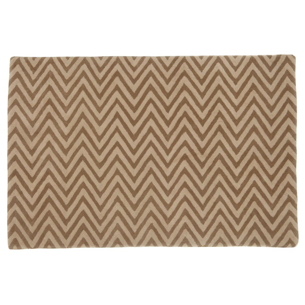 5 x 8&#39;  Zig Zag Rug (Khaki)