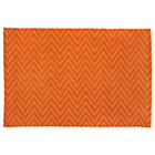 4 x 6&amp;#39; Orange Zig Zag Rug
