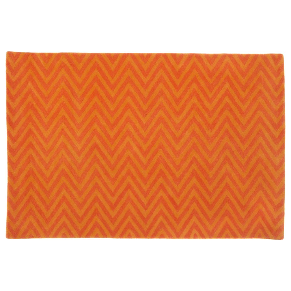 4 x 6&#39;  Zig Zag Rug (Orange)