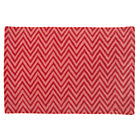 4 x 6&amp;#39; Pink Zig Zag Rug