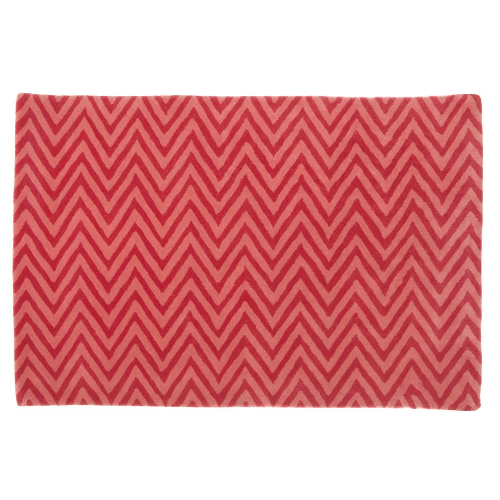 4 x 6&#39;  Zig Zag Rug (Pink)