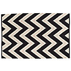 8 x 10'  Black Two-Lane Chevron Rug