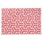 4 x 6&amp;#39; Pink Crow&amp;#39;s Feet Woven Dhurrie Rug