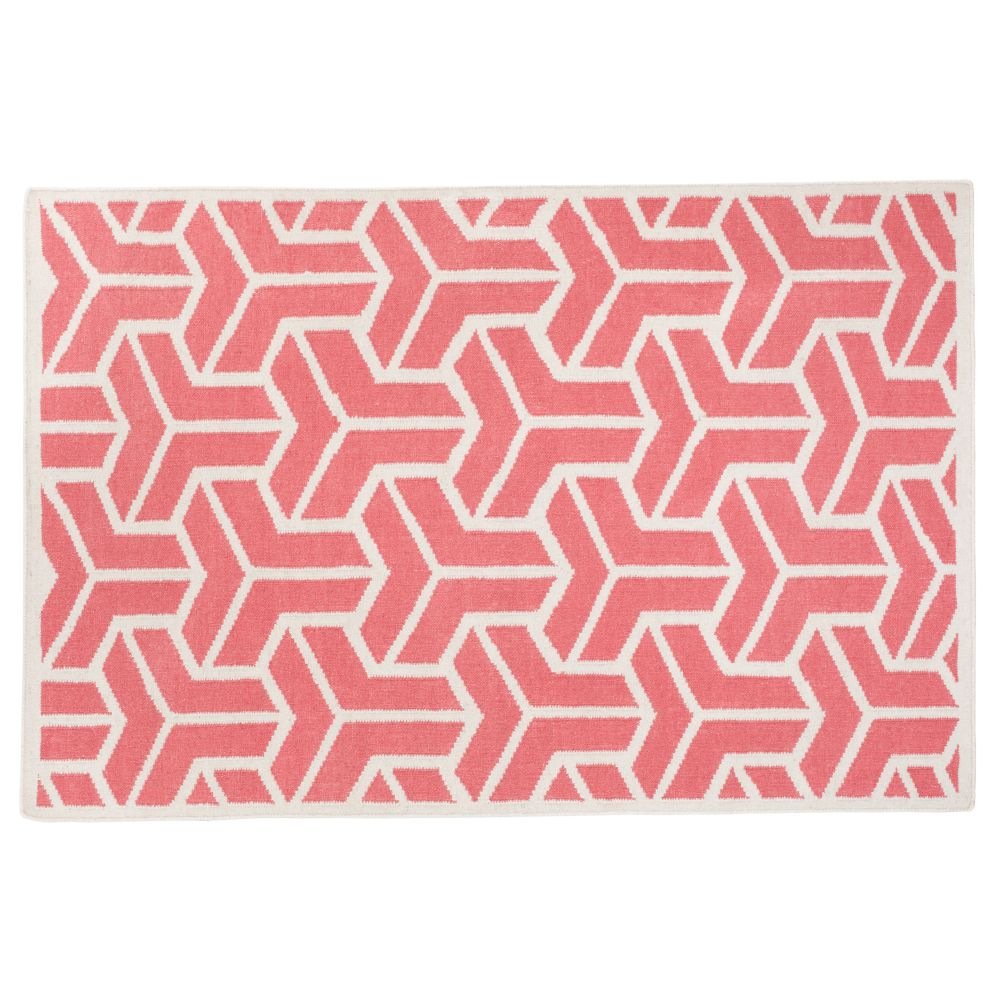 4 x 6&#39; Crow&#39;s Feet Rug (Pink)
