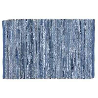 5 x 8' Lt. Blue Floor Cut Rag Rug