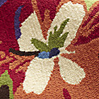 Swatch Poppies and Pansies Rug