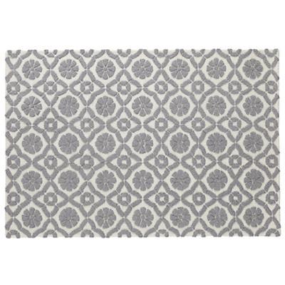 4 x 6' Garden Trellis Rug (Grey)