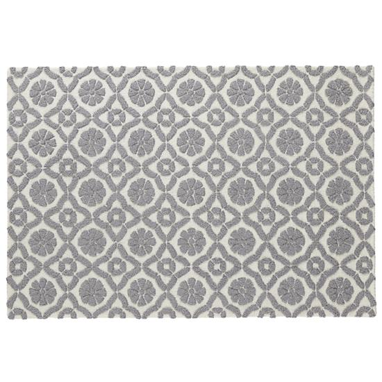 Raised Floral Pattern Rug Grey The Land Of Nod