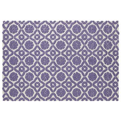 8 x 10' Garden Trellis Rug (Purple)