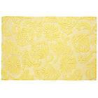 4 x 6' Yellow Raised Floral Rug
