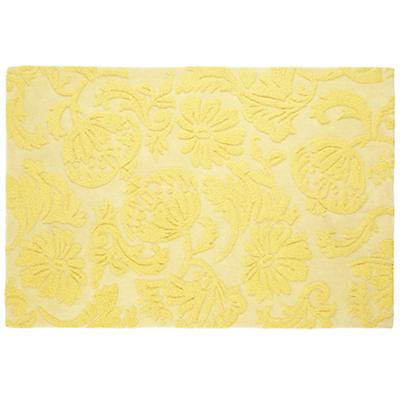 Raised Floral Rug (Yellow)