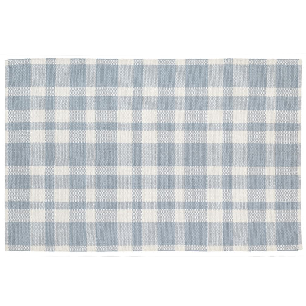 5 x 8' Pastel Plaid Rug (Blue)