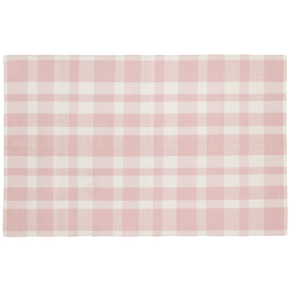 4 x 6&#39; Pastel Plaid Rug (Pink)