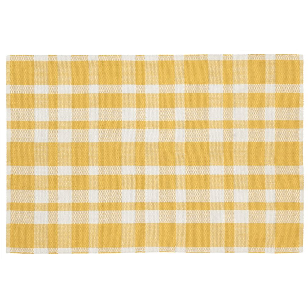 4 x 6'  Pastel Plaid Rug (Yellow)