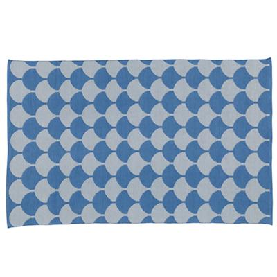 5 x 8' Half Shell Rug (Blue)