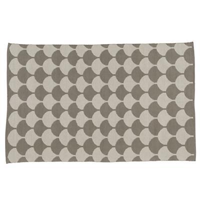 8 x 10' Half Shell Rug (Grey)