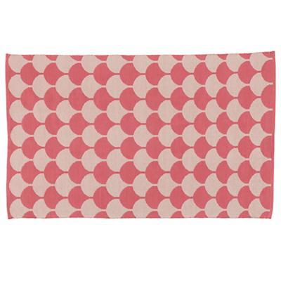 8 x 10' Half Shell Rug (Pink)